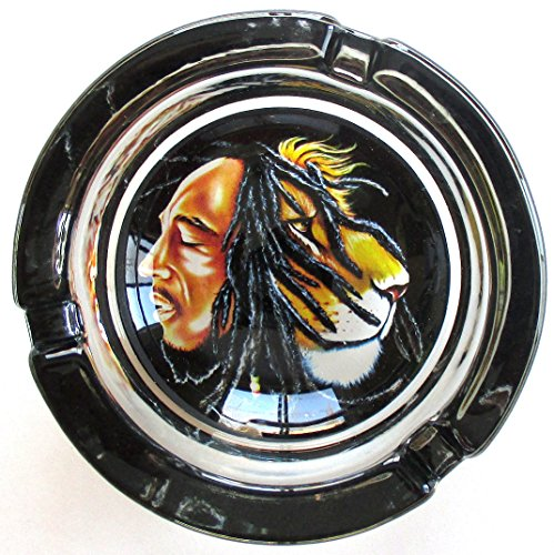 Bob-Marley-Lion-Out-of-Zion-Marijuana-Weed-Round-Glass-Ashtray