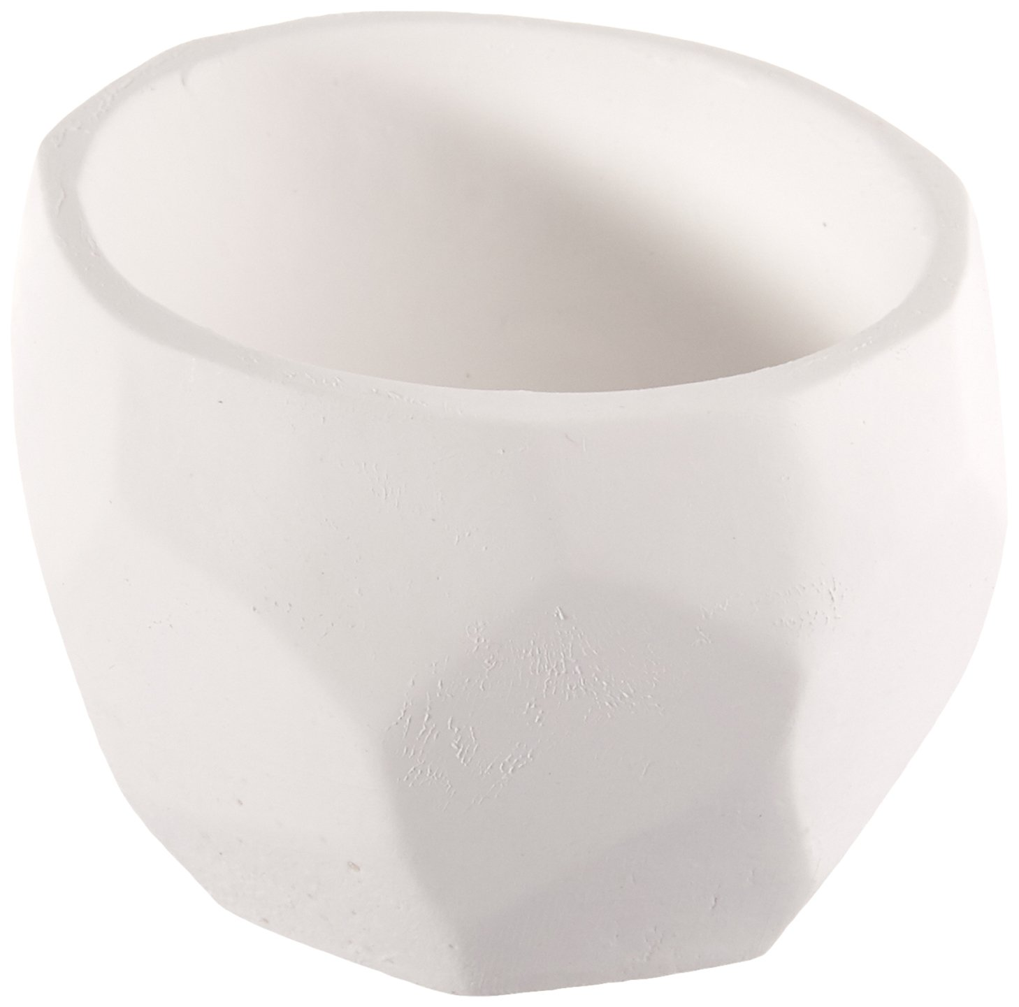 Kate AspenModern Garden Geometric Planter, White, Set of 4 Inc 25172NA
