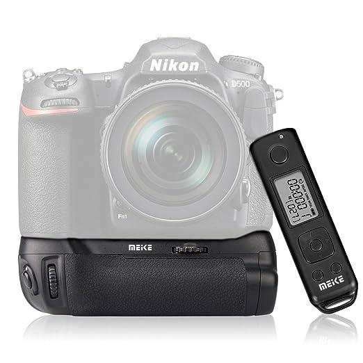 10 opinioni per Meike MK-DR500 Pro Battery Grip con Telecomando Timer Time Lapse per Nikon D500