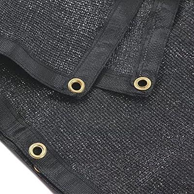 e.share 90% Black Shade Cloth Heavy Duty Shade Mesh Tarp (10'x 20', Black) : Garden & Outdoor