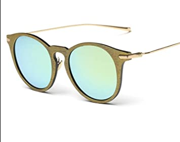 Koreanische Version Tide Section Retro Sonnenbrille Sonnenbrille Influx Der Menschen Sonnenbrillen Mode Männer Und Frauen Personalisierte Holz Korn,A5