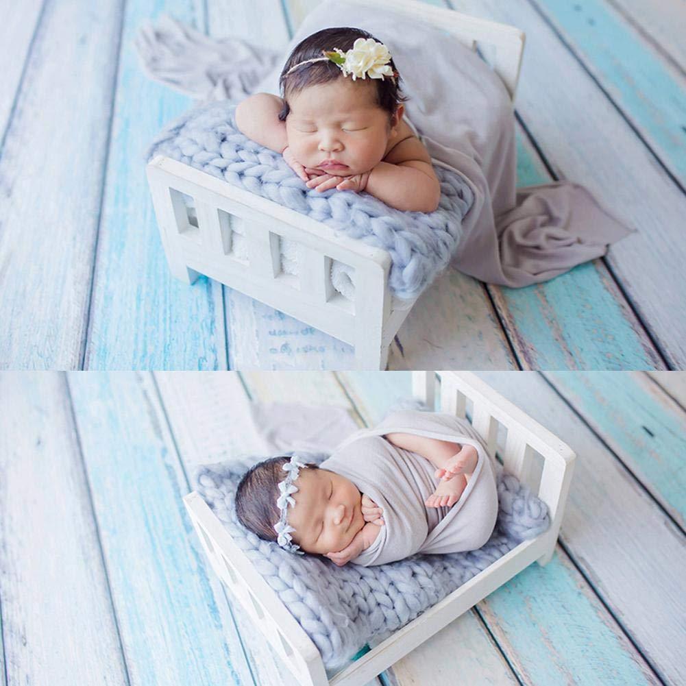 dejando Recuerdos Preciosos para su beb/é Accesorios de fotograf/ía para beb/és Cama de Madera healingpie Hacer fotograf/ía de reci/én Nacido Viejo Cama de Madera