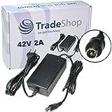 Trade-Shop Netzteil Ladegerät Ladekabel 42V 2A für 36V Akkus mit 10,45mm x 8,50mm 1Pin-Anschluss Stecker für E-Bike Elektrofahrrad Pedelec Elektro Fahrrad Akkus zum Aufladen