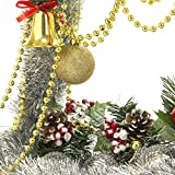 Pangda 26.2 Feet Shiny Beads Christmas Beaded Garland Christmas Tree Beads for Decoration (Gold)