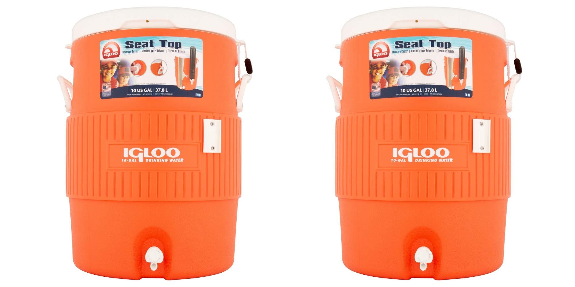 Igloo 10 Gallon Water Cooler/Set of 2