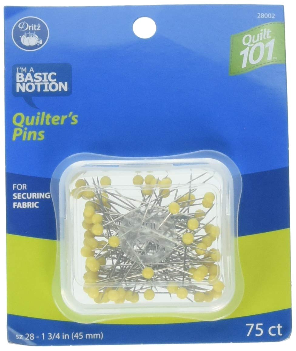 100-Count Extra-Fine 1-3//8-Inch Dritz Quilt 101 28003 Glass Head Pins