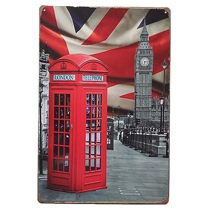 Amazon com: Alepoll Red London Phone Booth Vintage Retro