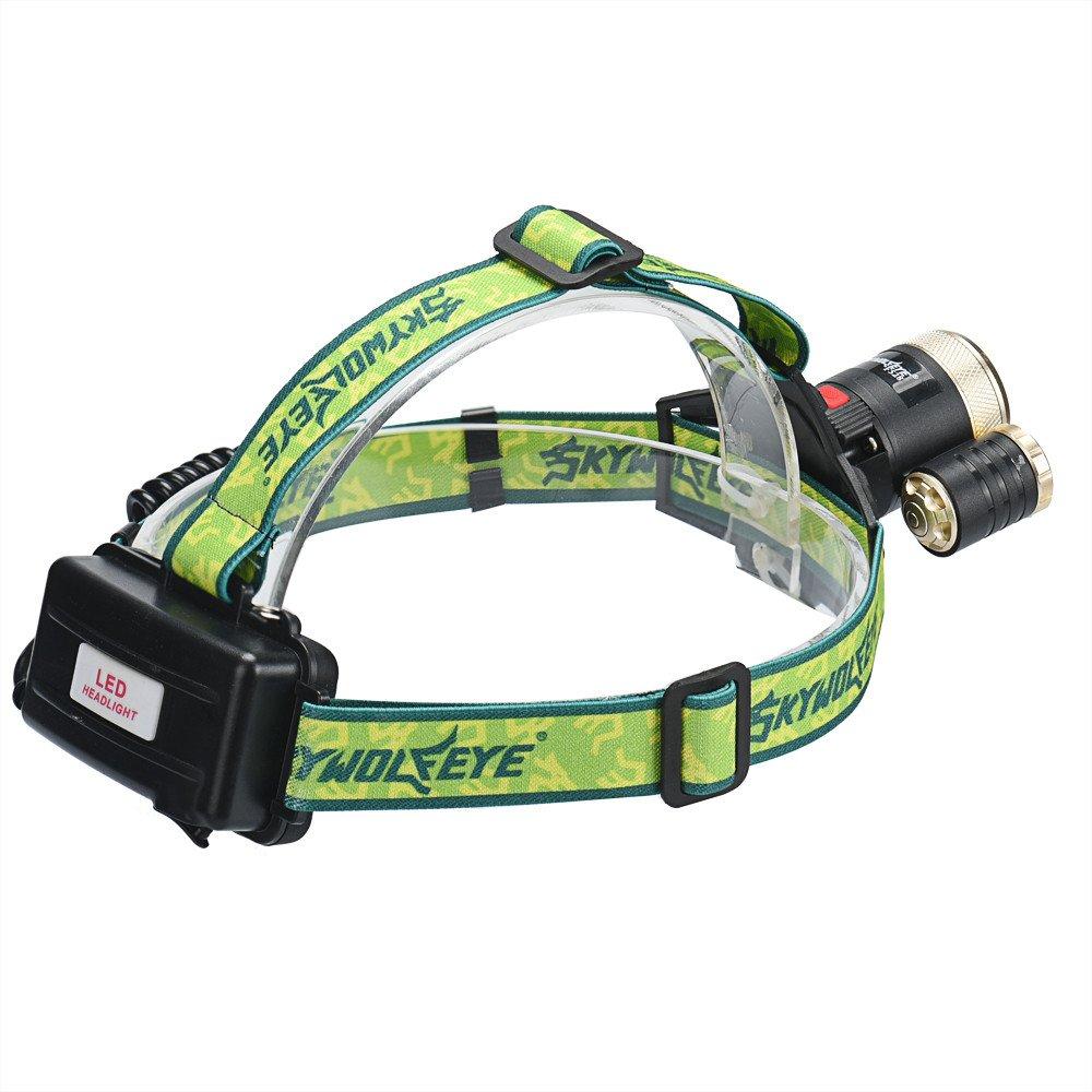 LED Headlight Topten 3000/l/úmenes linterna Ultra brillante LED linterna frontal cabeza luz con bater/ía recargable para Camping Caza Senderismo y actividades al aire libre