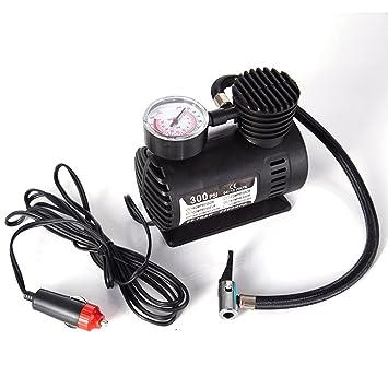 Mini compresor de bomba para neumáticos 300 PSI compresor de aire eléctrica portátil DC 12 V