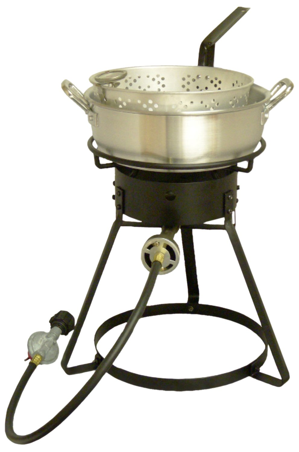 King Kooker 1642 16-Inch Bolt Together Outdoor Propane Cooker Package with Aluminum Fry Pan by King Kooker
