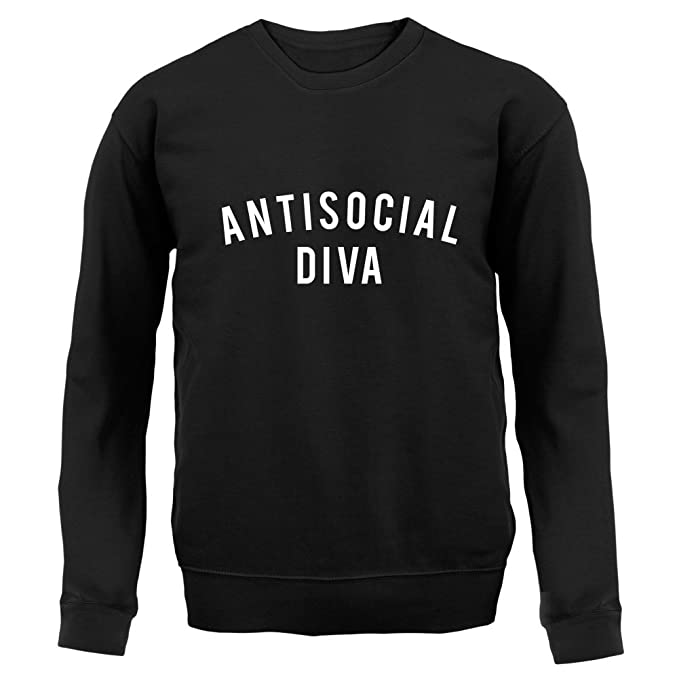 6223eb42f722 Amazon.com  Dressdown Anti-Social Diva - Kids Sweatshirt Sweater - 8 ...