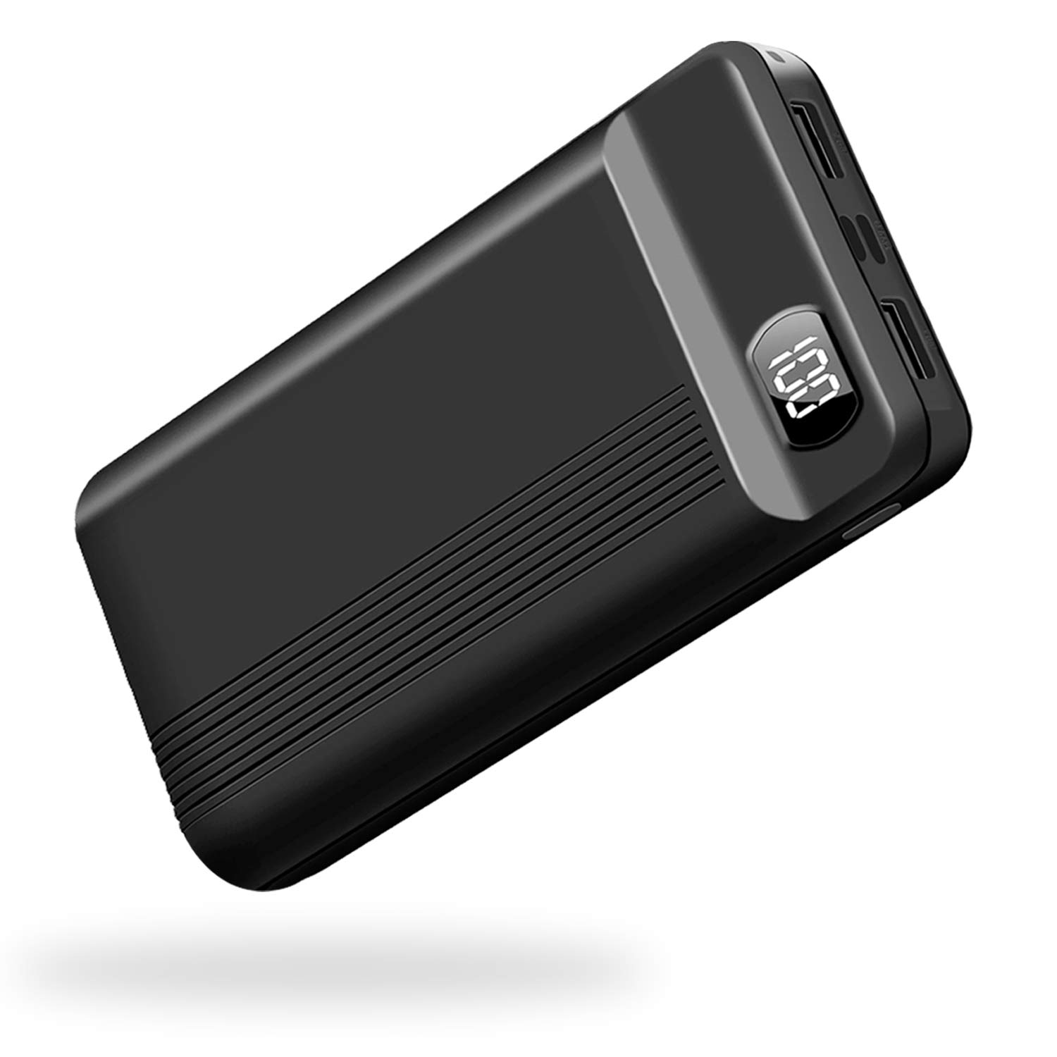 Power Bank Portable Charger 26800mAh Huge Capacity External Battery with Dual Input Port, LCD Digital Display,Smaller and Lightweight Backup Battery Compatible with Android Phone and Other Devices