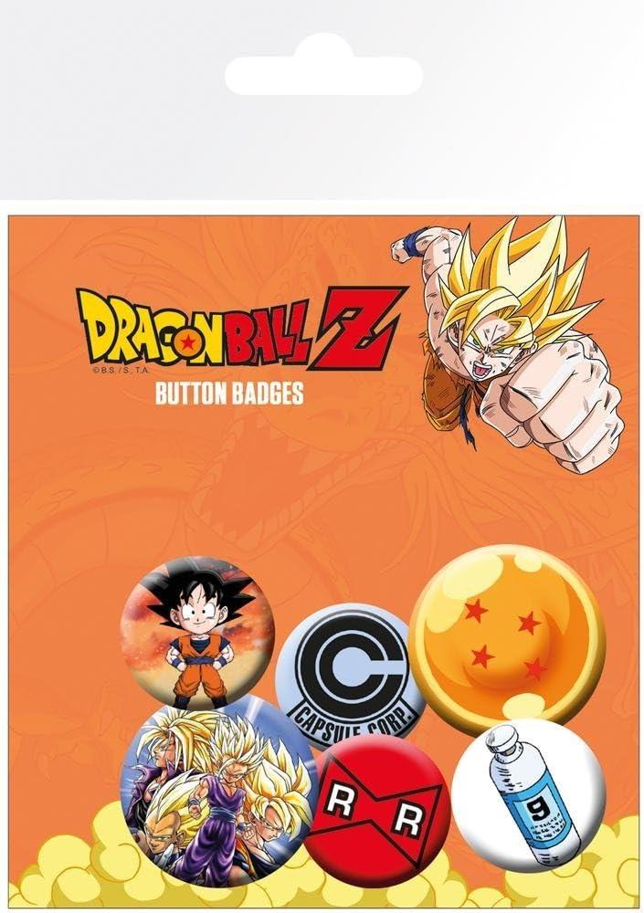 GB eye Pack de chapas Dragon Ball Z, Metal, Multicolor, 25 x 32 mm: Amazon.es: Hogar