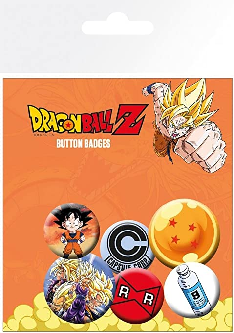 GB eye Pack de chapas Dragon Ball Z, Metal, Multicolor, 25 x 32 mm ...