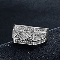 Kassarin Shop Hot Sale Gorgeous Ring 18K White Gold Plated Cubic Zirconia Ring Size 9-11 (9)