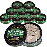 Smokey Mountain Herbal Snuff Pouches - Wintergreen - 10-Can Box - Nicotine-Free and Tobacco-Free - Great Tasting & Refreshing Chewing Tobacco Alternative