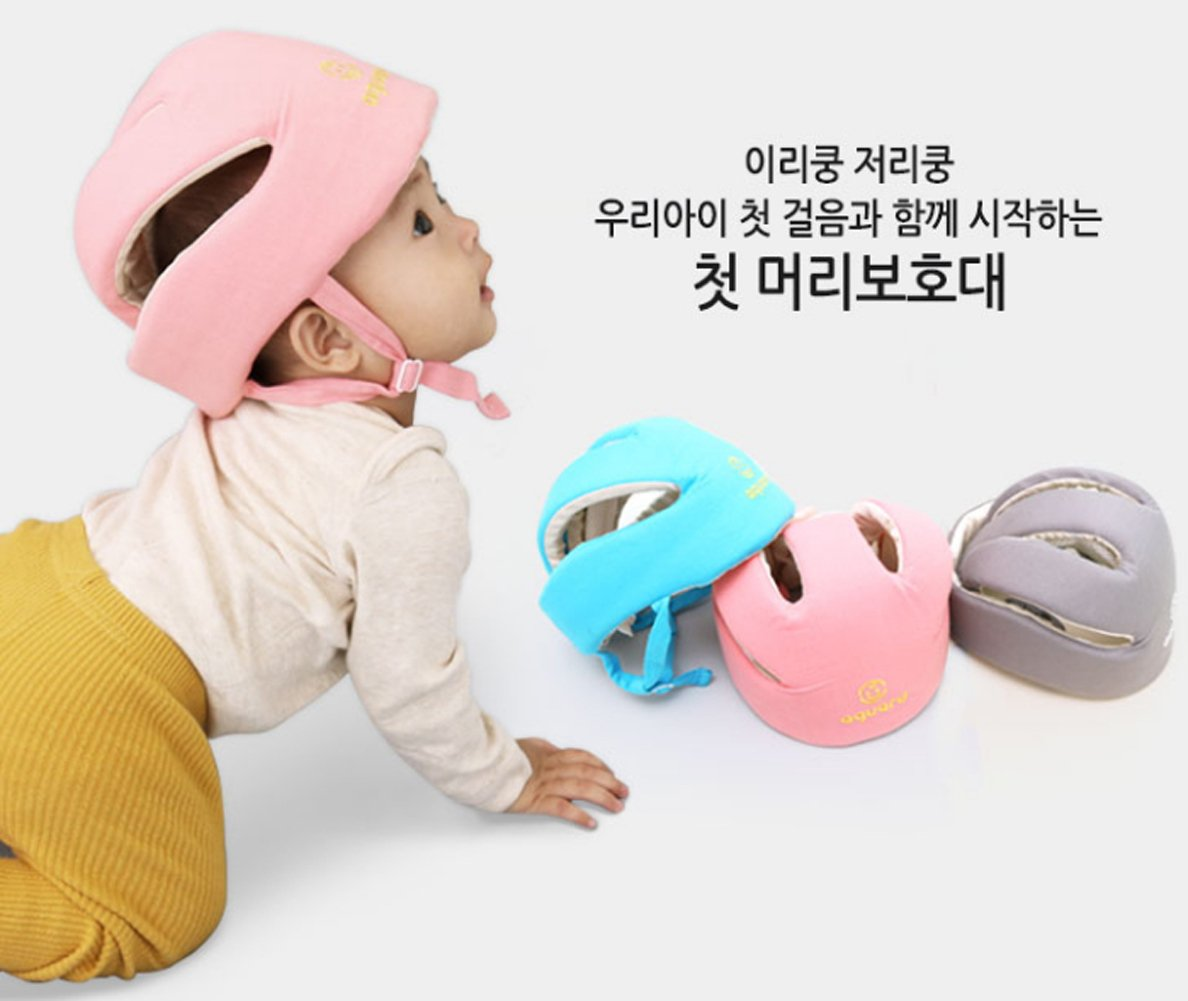 Gray Baby Helmet Toddler Head Protector 3D Solid Mesh 100/% Cotton Material Air mesh