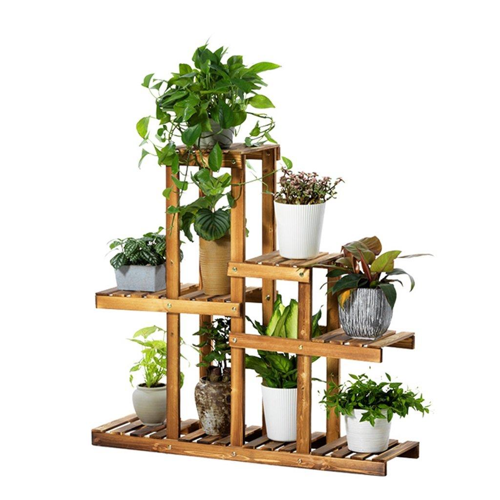 LXF telaio vaso di fiori Flower Stand Shelf in legno massello Balcone Indoor Living Room multistrato