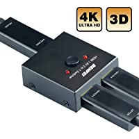 HDMI Switch 4K HDMI Splitter, BENFEI HDMI Switcher 2 Input 1 Output, HDMI Switch Splitter 2 x 1/1 x 2. Supports 4K 3D HD 1080P for Xbox PS4 Roku HDTV