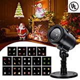 Christmas Party LED Projector Light- Tunnkit 14 Switchable Slides/Patterns Decorative Light for Any Holiday,4 Speed Modes, IP65 Waterproof, Timing Function,Thermal Module