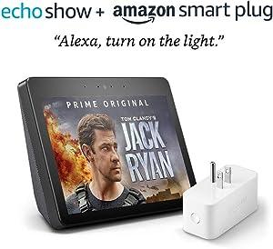 Echo Show (2nd Gen) with Amazon Smart Plug - Charcoal