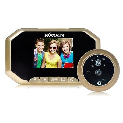 "KKmoon Mirilla 3"" LCD 1080P Peephole Digital Viewer 160° PIR Puerta Ojo Timbre Cámara"