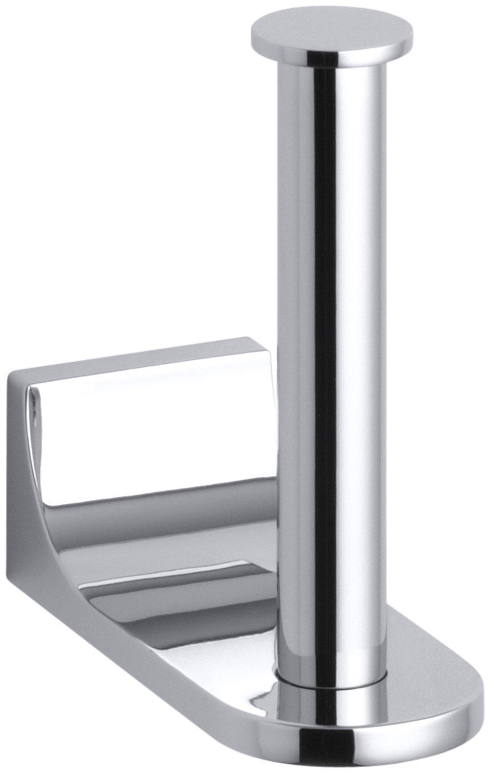 Kohler K-11583-CP Loure Vertical Toilet Tissue Holder, Polished Chrome