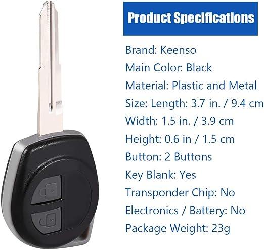 Keenso 2 Tasten Keyless Entry Fernbedienung Smart Key Gehäuse Shell Blade Ersatz Auto