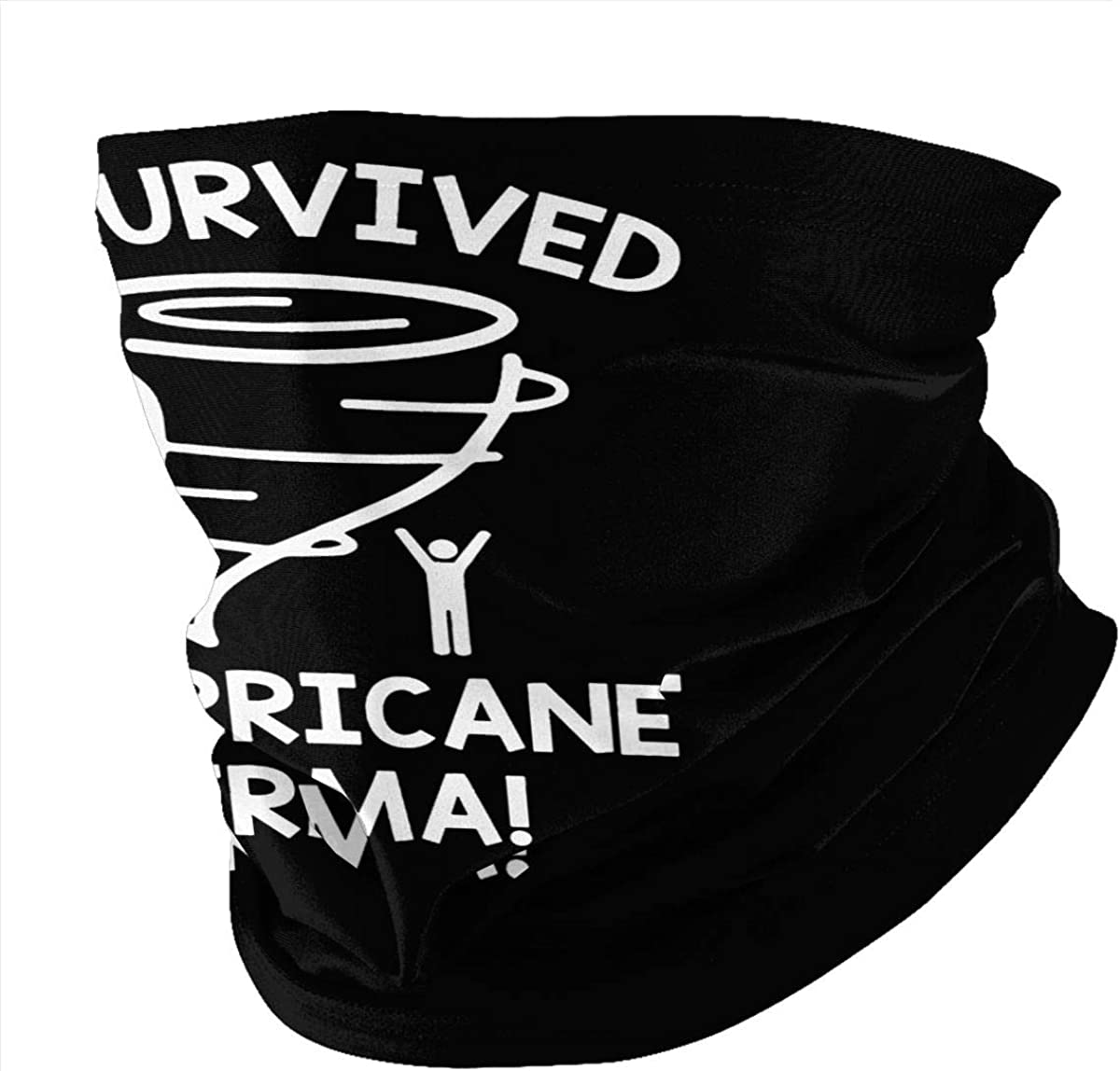 I Survived Hurricane Irma Mens Women Dustproof Shawl Comfortable and Breathable Muffler