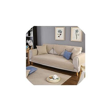 competitive price ed154 0e7b2 Amazon.com: fantasticlife06 Nordic Solid Color Striped Sofa ...