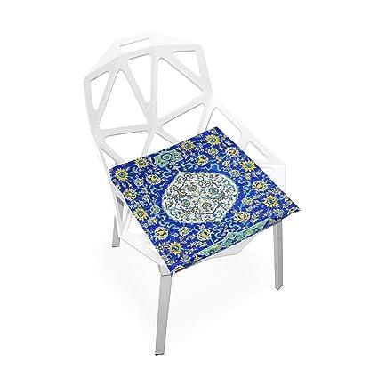Enjoyable Amazon Com Plao Seat Cushion Pad Ceramic Painted Cushions Spiritservingveterans Wood Chair Design Ideas Spiritservingveteransorg