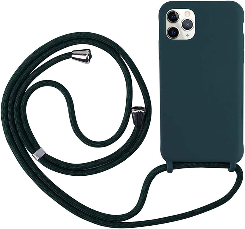 Ajustable Collar Correa de Cuello Cord/ónCarcasa de Silicona-Negro MEIVS Funda Compatible con iPhone X//XS MAX