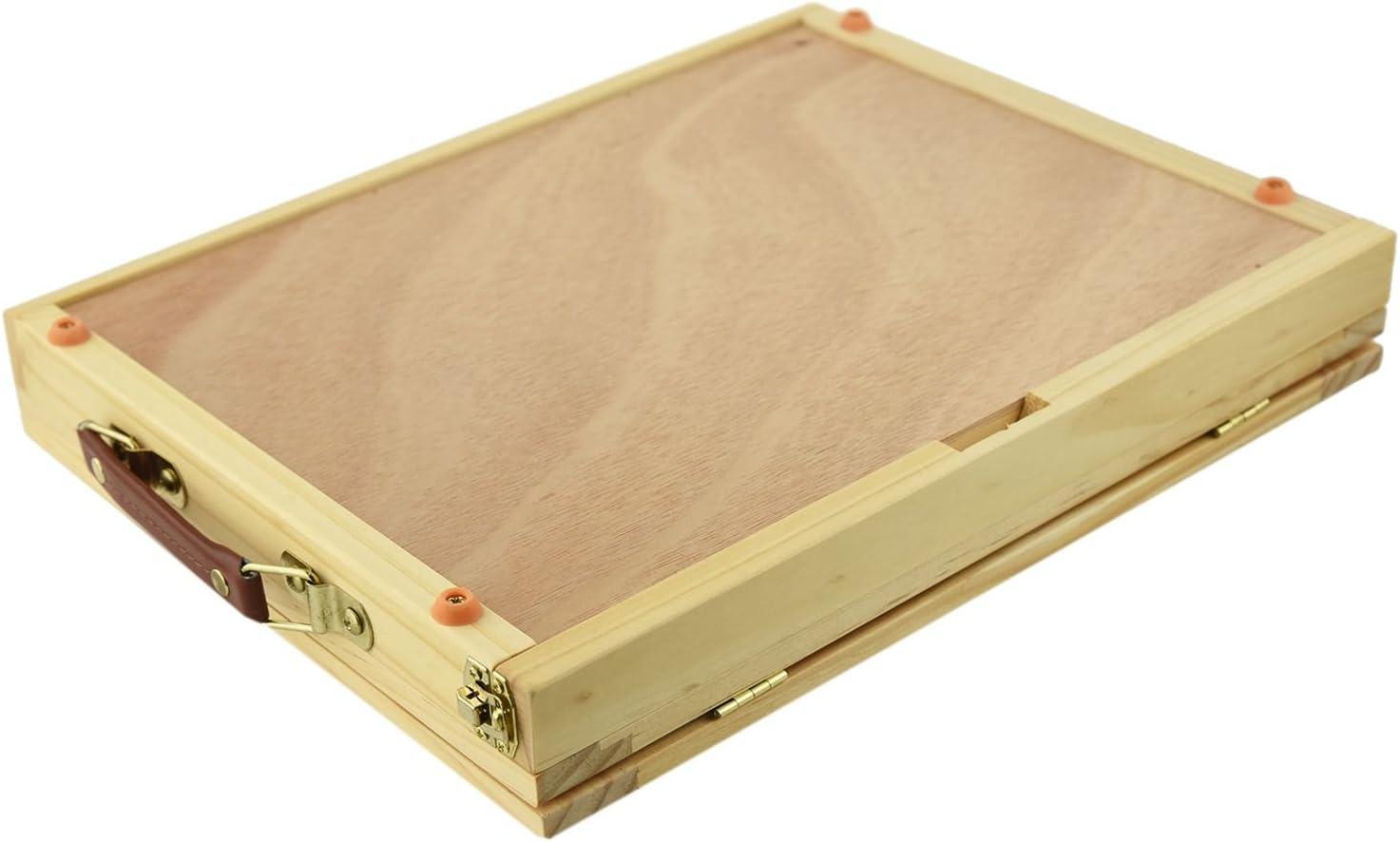 SNOWINSPRING Folding/&Portable Artist Desk Easel Wood Multi Positions Sketching Sketch Drawer