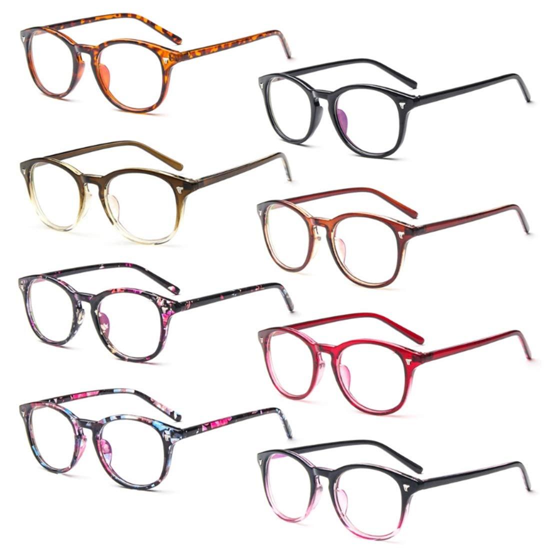 CHICLI Men Women Unisex Vintage Clear Lens Eyeglasses Retro Glasses Optical Classic Frames Glasses TEA