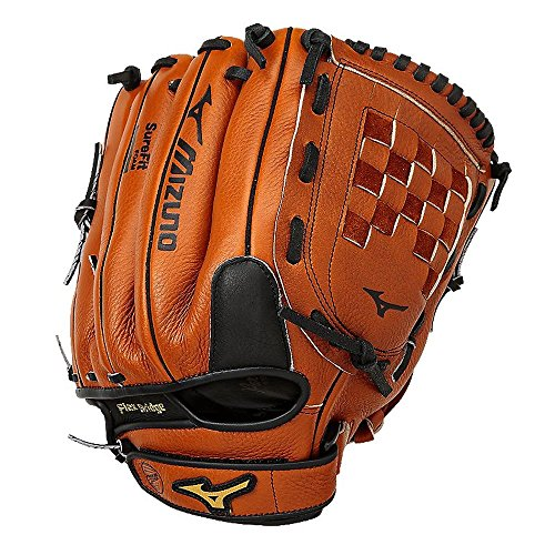 Mizuno Youth Prospect Leather GPL1200Y2 Baseball Utility Glove 1200 Peanut by Mizuno