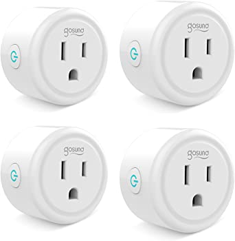 4-Pack Gosund Mini Wifi Outlet Works With Alexa