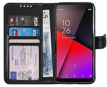 huge discount 612e9 a5bbe Gadget Giant Wallet Case for Vodafone Smart X9 PU Leather Wallet Flip Case  Cover -Black