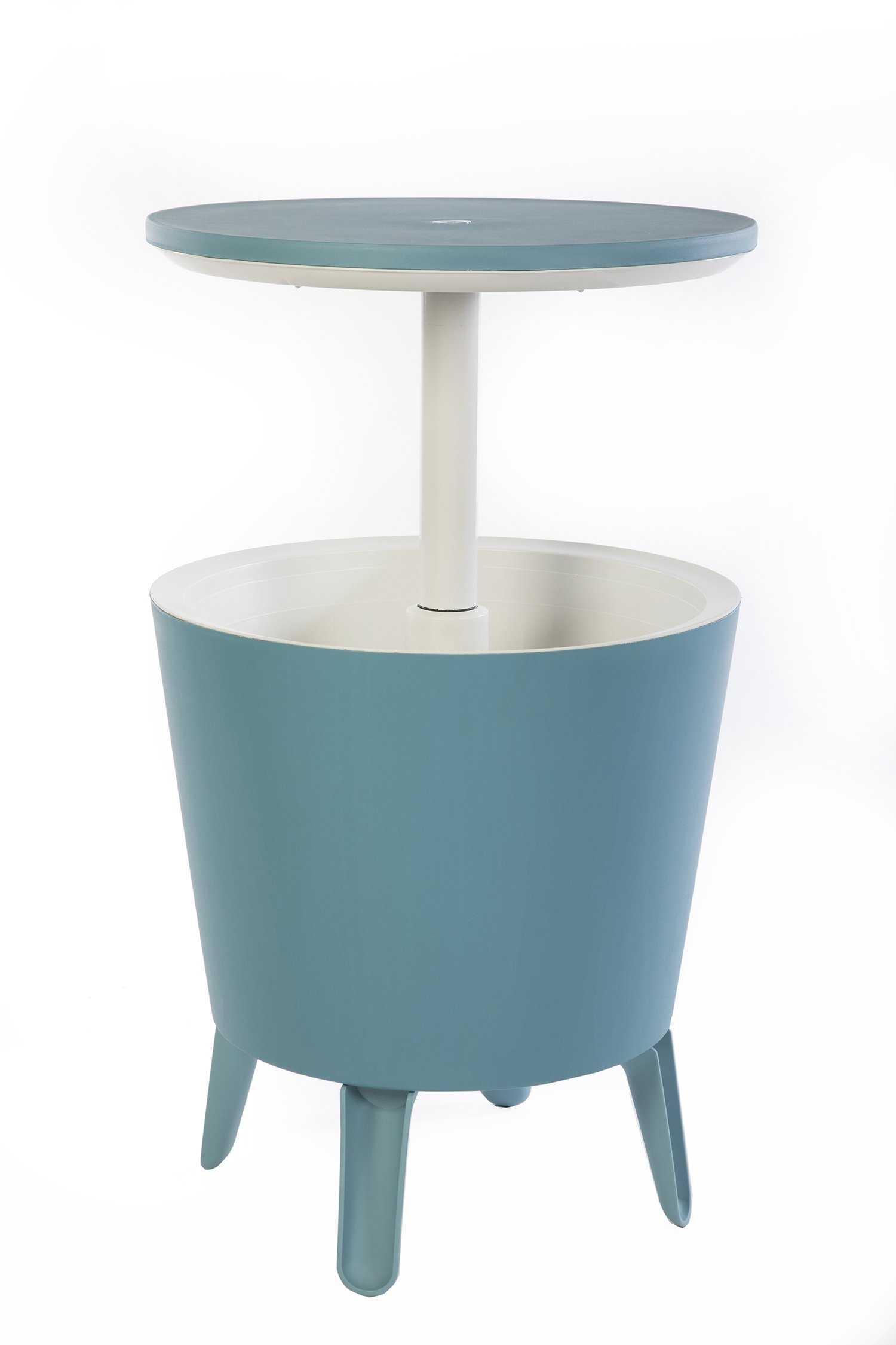 Keter 7.5-Gal Cool Bar Modern Smooth Style with Legs Outdoor Patio Pool Cooler Table, Teal by Keter
