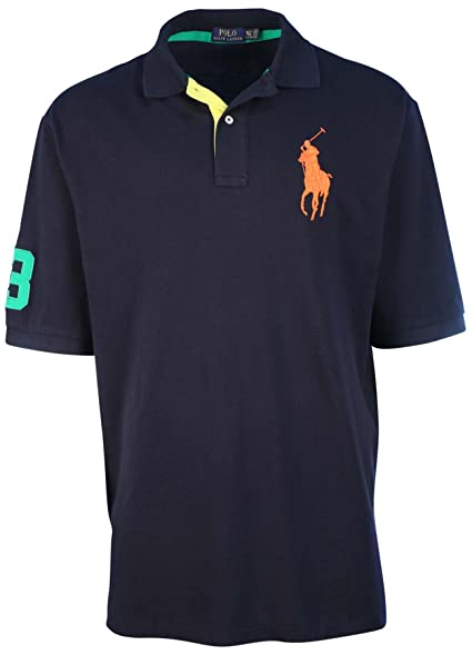 Polo Ralph Lauren Big /& Tall Big Pony Polo Rugby Blue Shirt  FREE SHIPPING