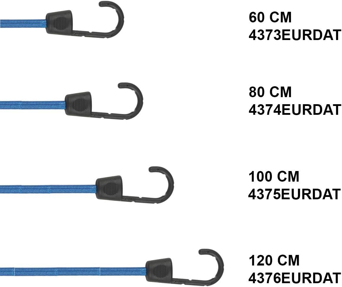 Mudanzas Camping Turquesa Master Lock 4375EURDAT Cuerdas el/ásticas con Ganchos 100 cm Cuerda Paquete de 2 Tensores Optimo para Sujetar Cargas Peque/ñas
