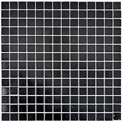 Carrelage mosaïque en verre Noir pour miroir mural salle de ...