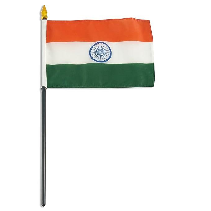 Amazon.com: Bandera de la India 4 x 6 inch: Jardín y Exteriores