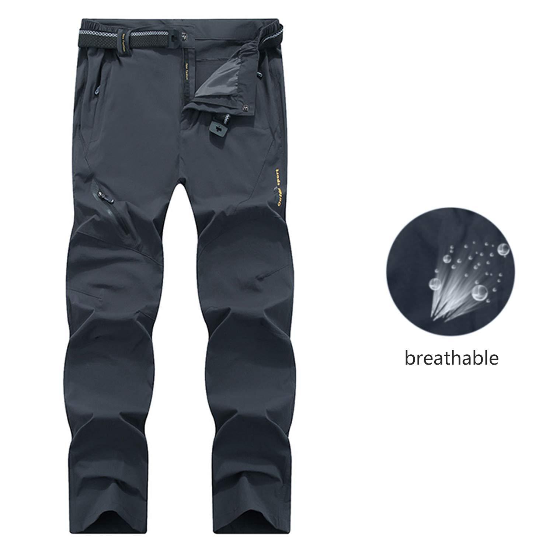 SUKUTU Pantalones de Senderismo Ligeros de Secado r/ápido para Hombres Pantal/ón de Escalada c/álido y Transpirable Resistente al Agua al Aire Libre para Caminar