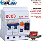 XCELLENT Single Phase 2 Pole ELCB, RCCB, ISI Marked MCB, 32A with High Voltage, Overload Protection, Current 3 to 30 Ma (Shock Guard)