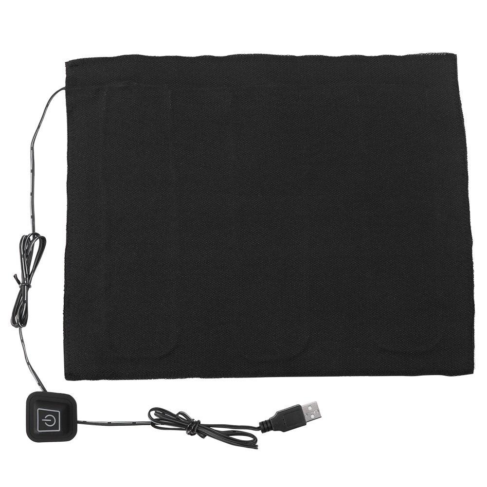 Asixx USB Heat Pad, DC 5V 3-Shift USB Electric Cloth Heater Heating Pad for Neck, Back, Abdomen, Lumbar Heating and Pet Warmer, Made of Carbon Fiber