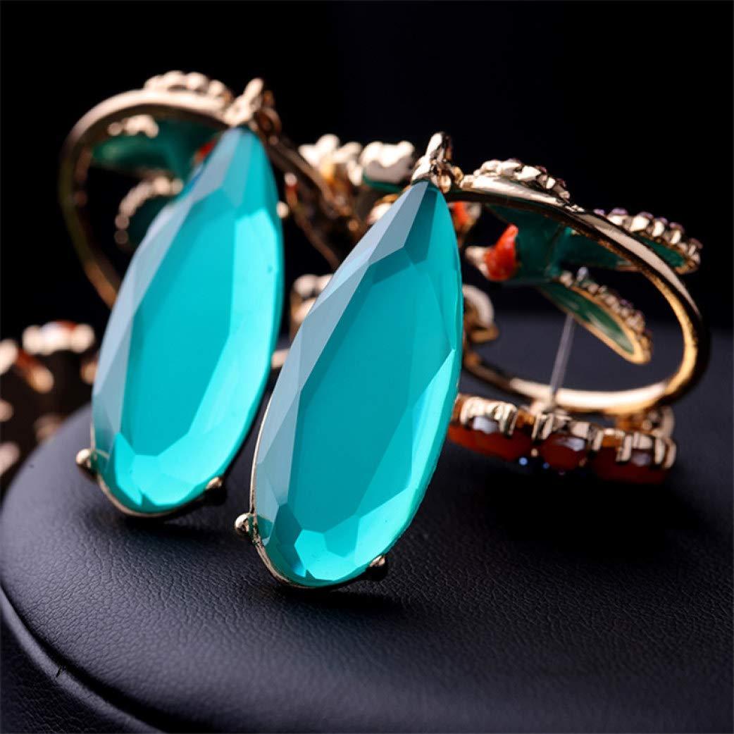 Drop Dangle Earring Chinese Style Charming Enamel Blue Crystal Earrings Lightweight Fashion Party Earrings