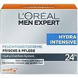 L'Oréal Men Hydra Intensive Feuchtigkeitscreme Gesicht, Feuchtigkeitspflege für Männer, 1er Pack (1 x 50 ml)