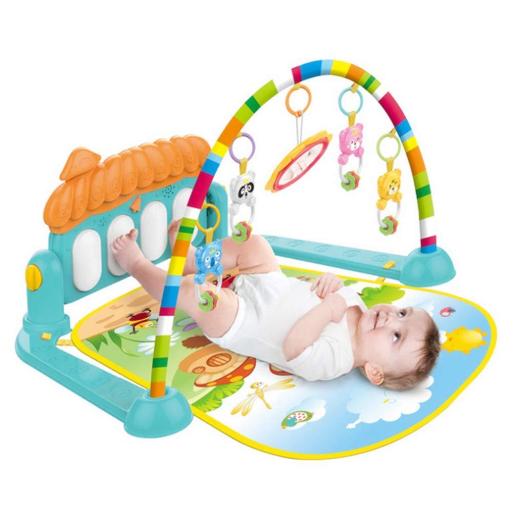 Thole Bambini Mat 3 in 1 Pianoforte per Bambini Play Ginnastica Musica Palestra Rack Gym Pieghevole Adatto per 0-36 Mesi