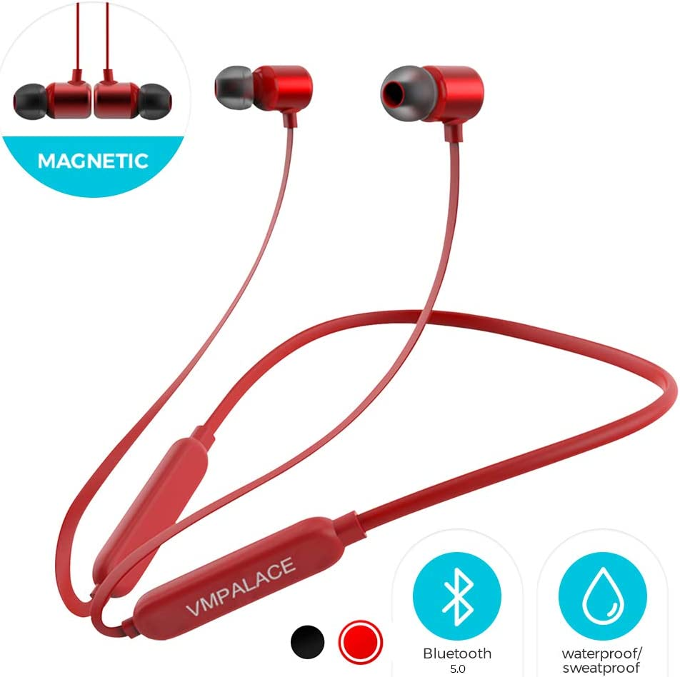 Amazon Com Vmpalace Bluetooth Headphones Noise Cancelling Headphones With Microphone Magnetic Hd Stereo Wireless Headphones Ipx7 8 Hour Battery Waterproof Bluetooth Headset For Running Workout Gym Home Audio Theater