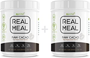 Pure Food Real Meal Replacement Powder | Organic, All Natural, Plant-Based | 26g Protein, High Fiber, Low Carb, No Sugar, Free of Gluten, Dairy, Soy |.